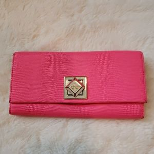 Kate Spade Hot Pink Turnlock Wallet